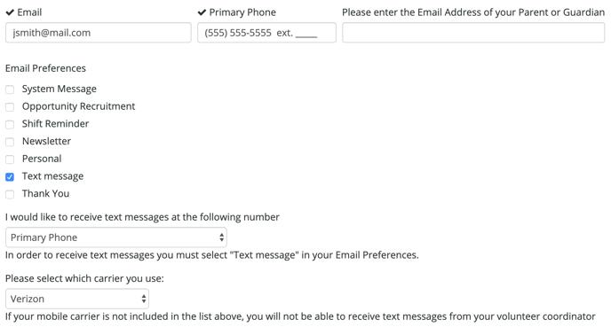 Demo Text messaging questions eR